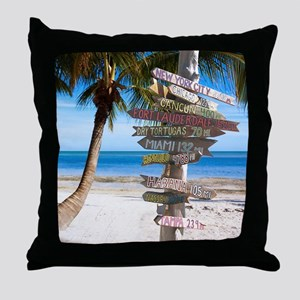 KeyWestSign7100 Throw Pillow